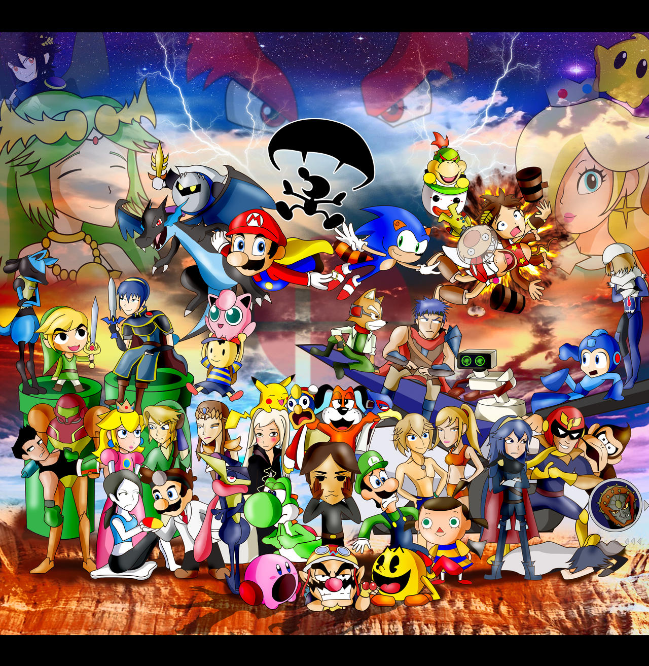 Super Smash Bros 4- Finale by xeternalflamebryx