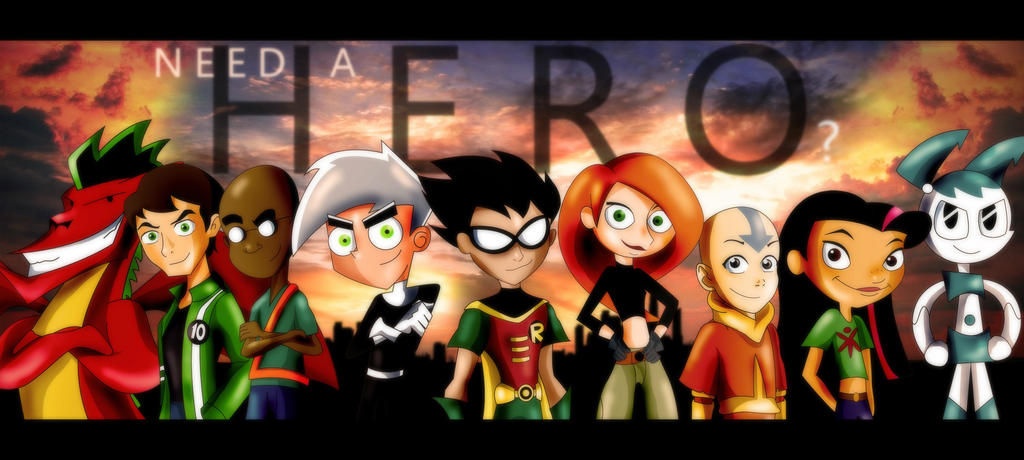 Nickelodeon, Cartoon Network, Disney- Need a Hero? by xeternalflamebryx