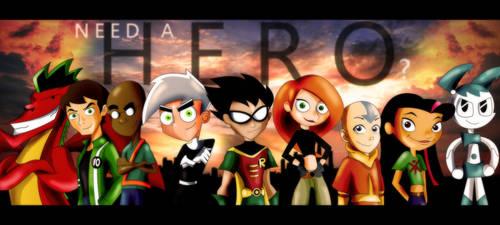 Nickelodeon, Cartoon Network, Disney- Need a Hero?
