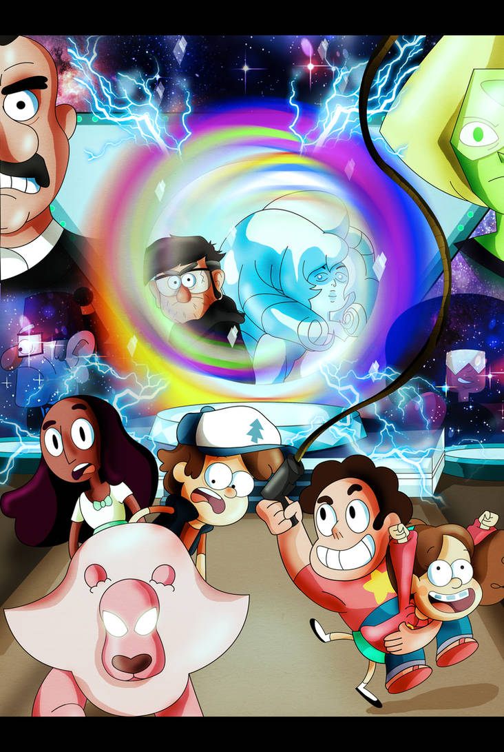 Gravity Falls and Steven Universe by xeternalflamebryx