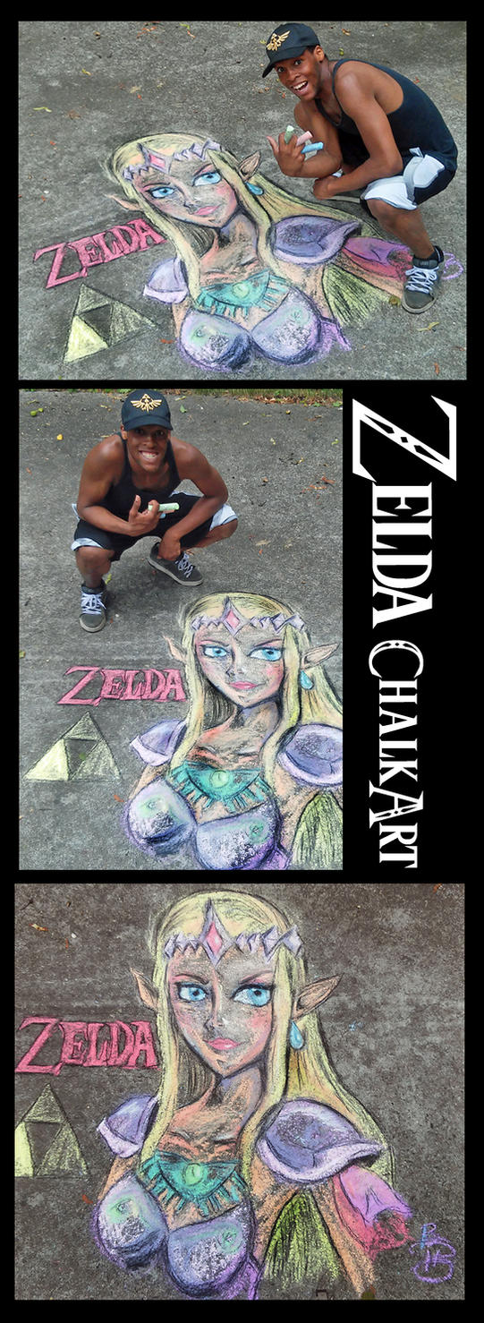Zelda Chalk Drawing by xeternalflamebryx
