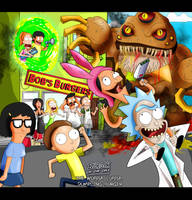 If Rick and Morty Met Bob Burgers by xeternalflamebryx