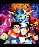 Gravity Falls and Steven Universe 2 by xeternalflamebryx