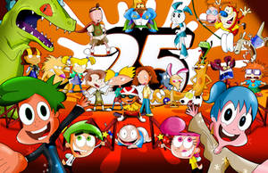 Nickelodeon 25th Anniversary by xeternalflamebryx