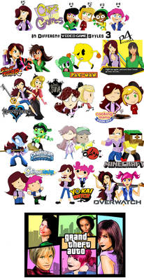 Chips n Grapes in Different Video Game Styles 3