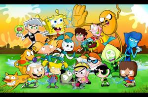 Nickelodeon vs Cartoon Network 2- Water War by xeternalflamebryx