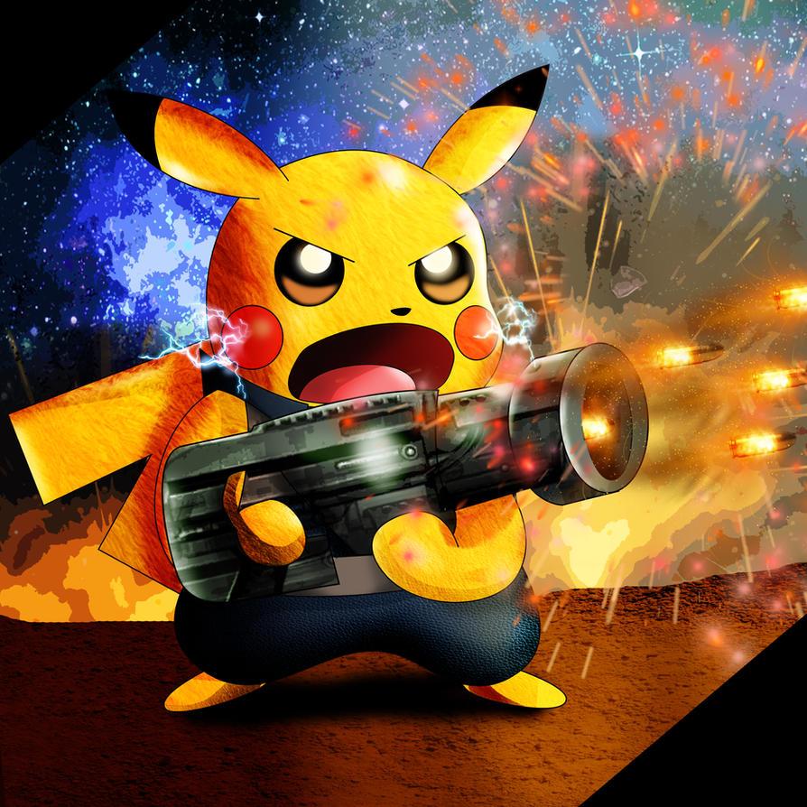 Pikachu as Rocket by xeternalflamebryx