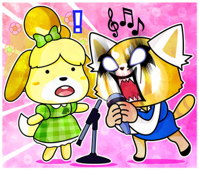 Animal Crossing X Aggretsuko by xeternalflamebryx