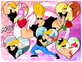 A Johnny Bravo Valentines by xeternalflamebryx