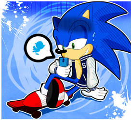 Sonic on social media by xeternalflamebryx