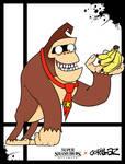 Super Smash Styles- 02 Donkey Kong x Gorillaz by xeternalflamebryx