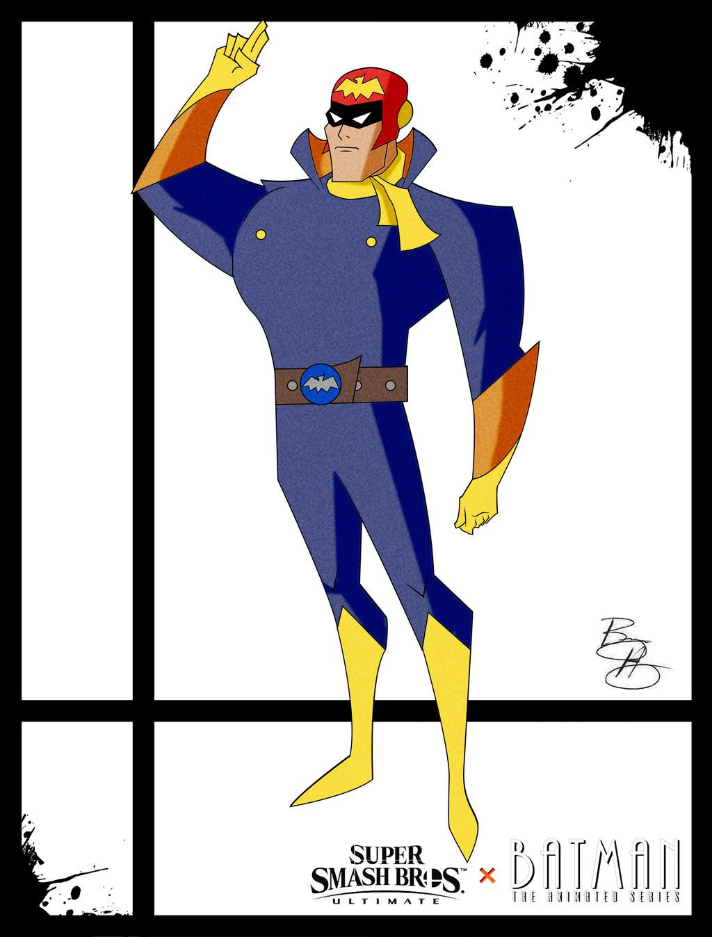 Super Smash Styles- 11 Cpt Falcon x Batman