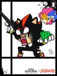Super Smash Styles- 09 Shadow x Aggretsuko