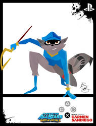 PlayStation All-Styles - Sly Cooper x C.Sandiego