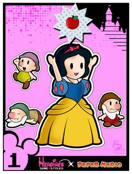 Heroines Game Styles- Snow White x Paper Mario