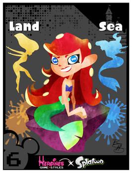 Heroines Game Styles- Ariel x Splatoon