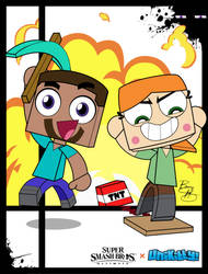 Super Smash Styles- 73 Steve and Alex x Unikitty