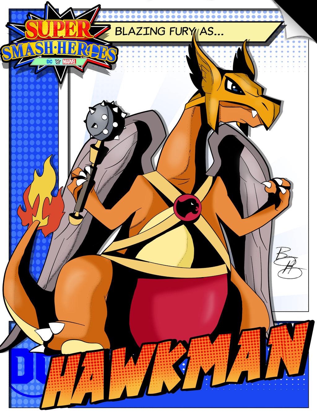 Super Smash Heroes- Charizard x Hawkman