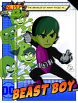 Super Smash Heroes- Mii Brawler x Beast Boy by xeternalflamebryx