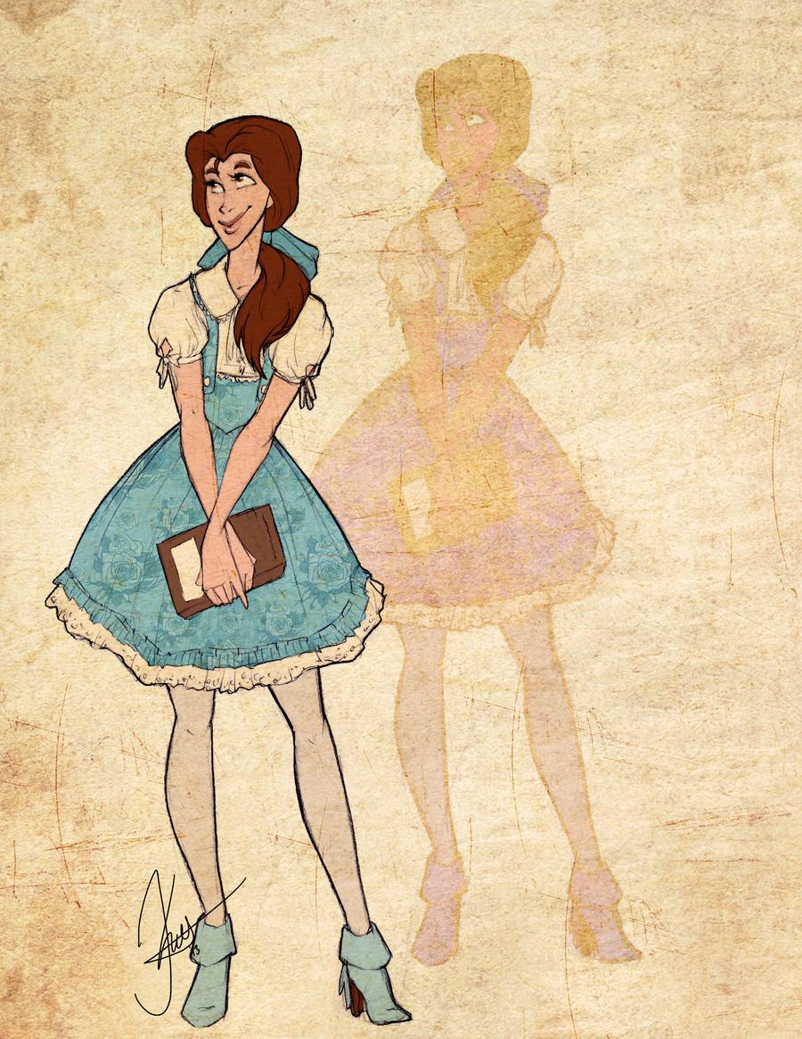 Disney Girls: Belle by KimberBee