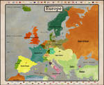 Map of Europe 1848