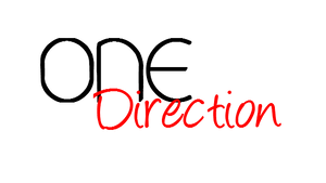 One Direction Text PNG