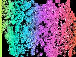 Rainbow Paint Spaltter PNG