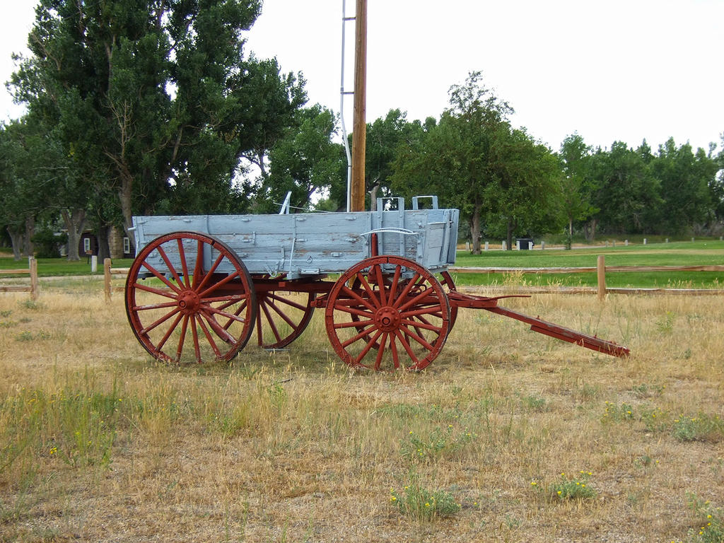 Wagon at Fort Caspar, Wyoming by Trisaw1
