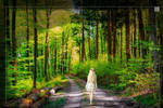 Lady in the Forest by Trisaw1