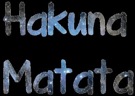 Hakuna Matata Text PNG by niallhoransdreamer on DeviantArt