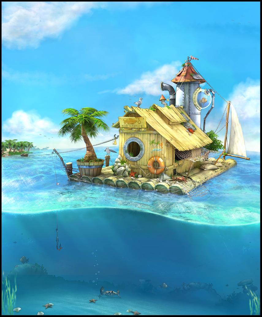 Fisherman House by ZawYeMyint1
