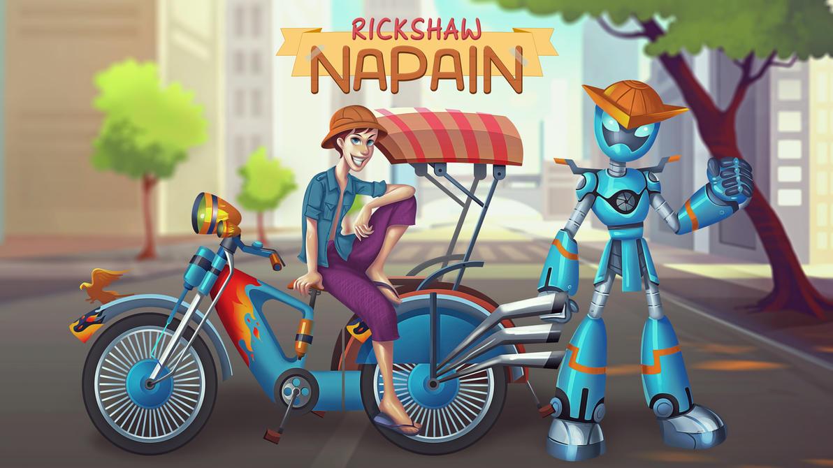 Rickshaw NaPain by ZawYeMyint1