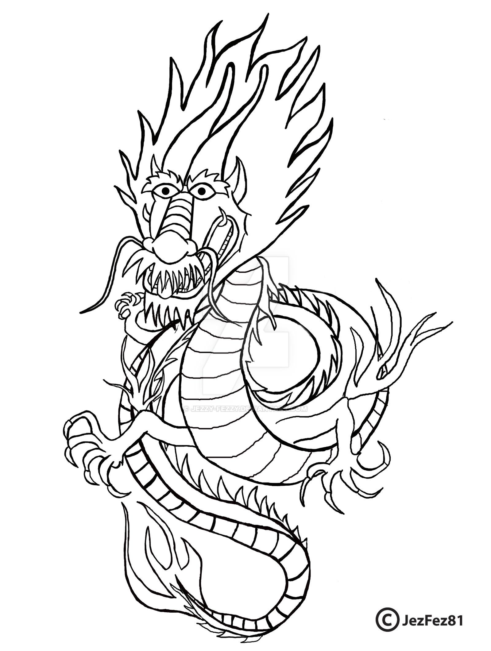 Oriental Tattoo Dragon lineart by Jezzy-Fezzy on DeviantArt
