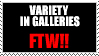 Variety in Galleries FTW stamp by Jezzy-Fezzy