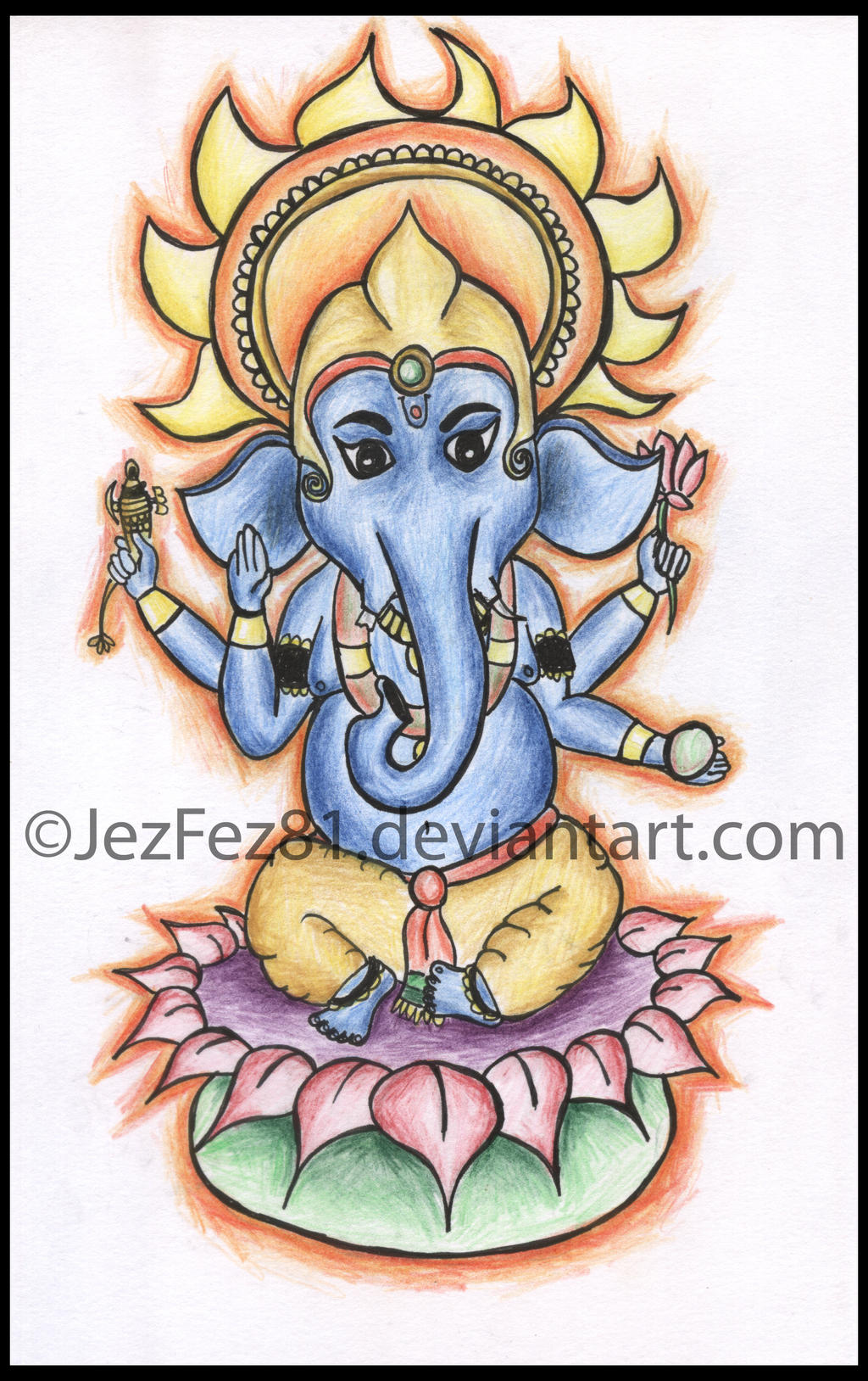 ganesh tattoo my style by jezzy fezzy on deviantart. Black Bedroom Furniture Sets. Home Design Ideas