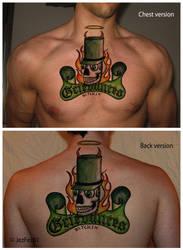 Grievances tattoo: chest-back by Jezzy-Fezzy