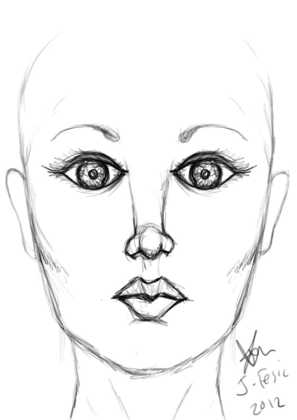Female Face Drawing