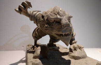 WIP sculpture of a monster 1