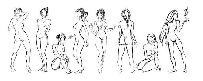 Pose Sketch Practice