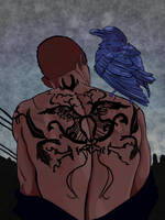 Ronan Tattoo Black by Ghostlyfallows