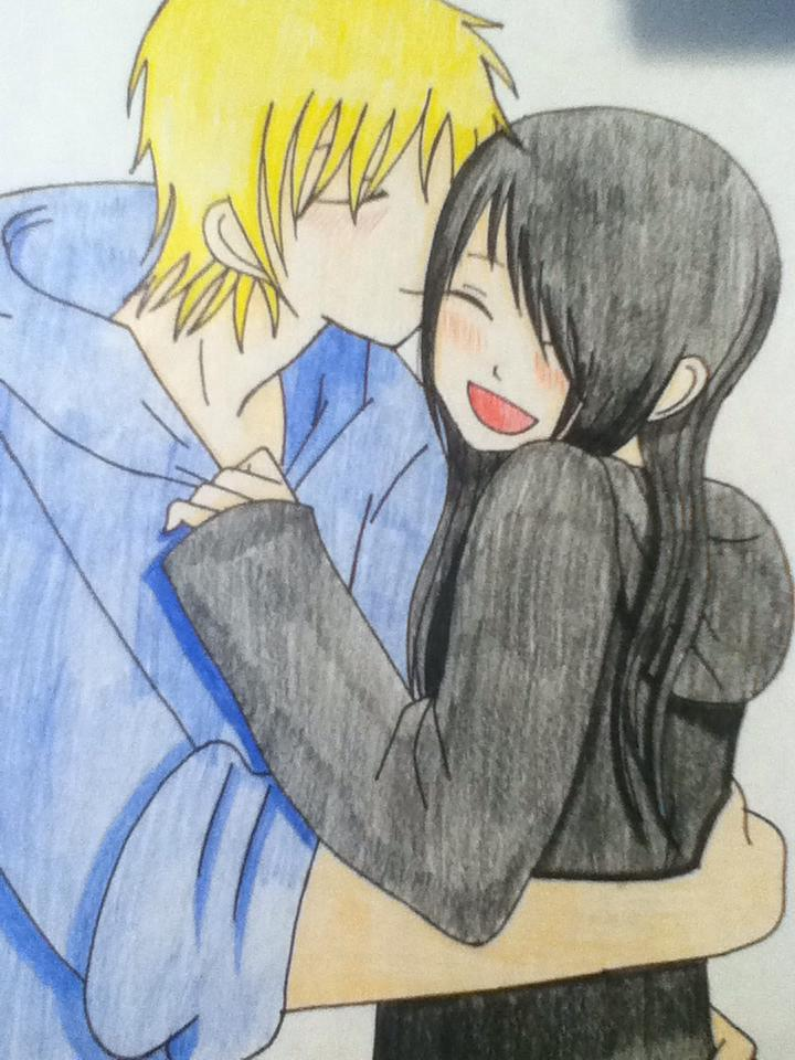 Anime Couple Cuddling