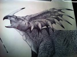 Biro Styracosaurus by agentcoleslaw