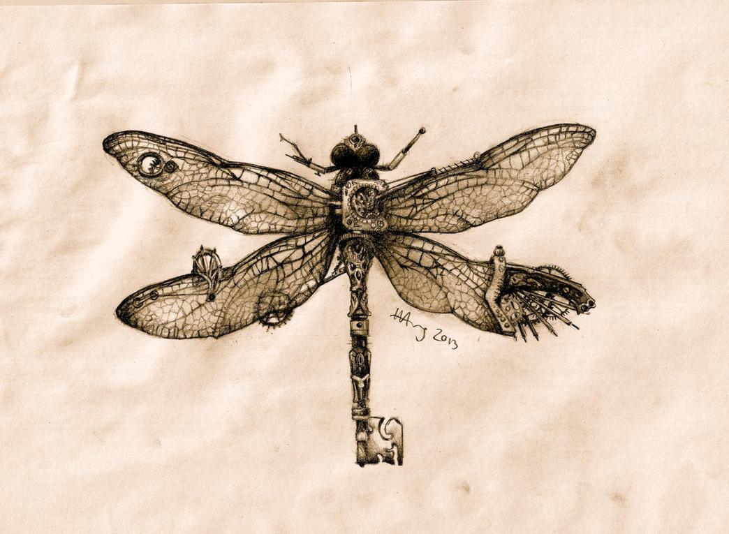 Steampunk Dragonfly Key By Agentcoleslaw On Deviantart