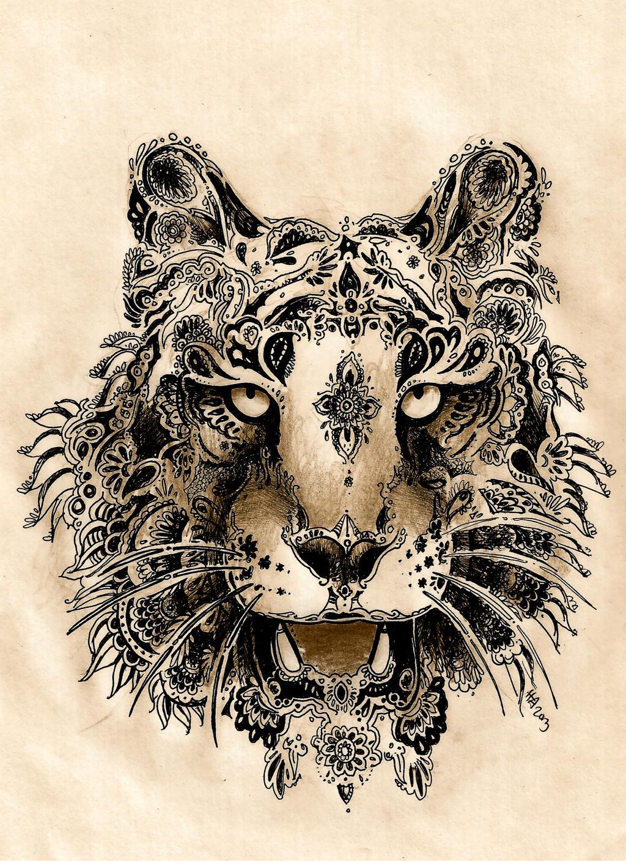 Henna Tigress By Agentcoleslaw On DeviantArt