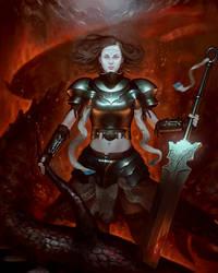 Slayer of dragons by SimonARPalmer