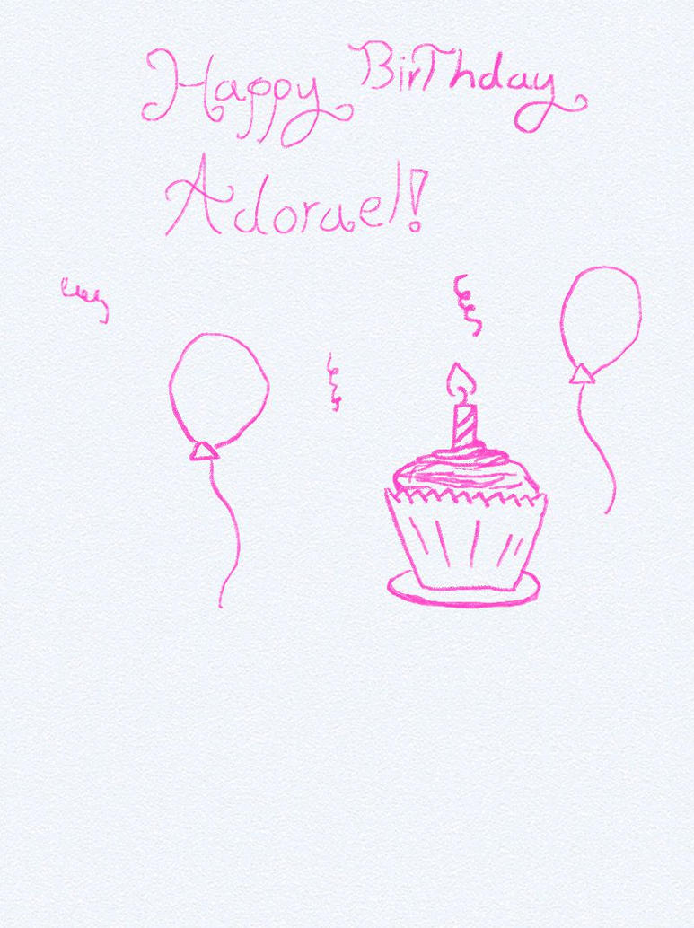 Happy Birthday Adorael! by Jadewashere64