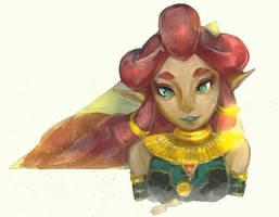Zelda Breath of The Wild - Sands Breeze by biyavi