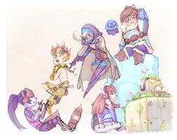 Overwatch - my little squad by biyavi