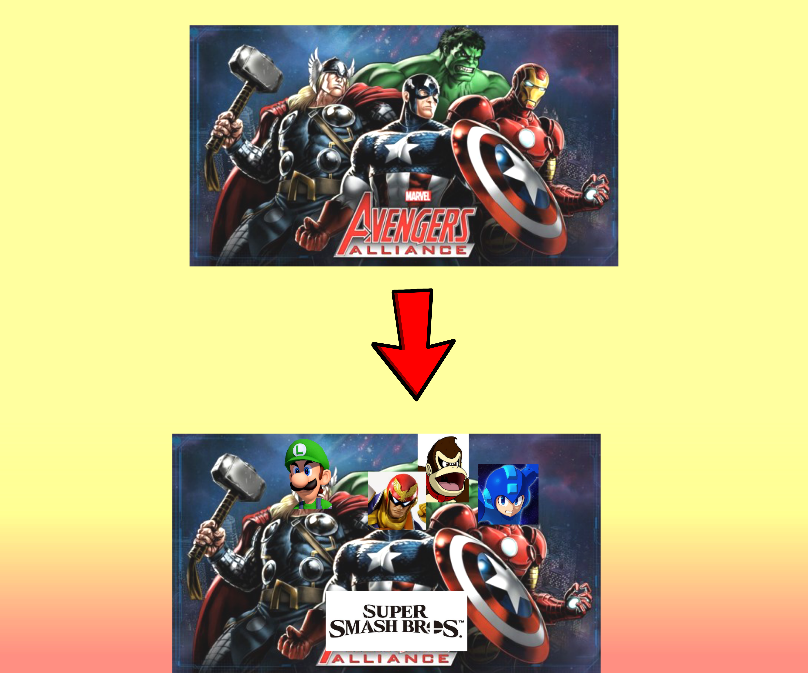 Smash Bros Alliance Concept Art by Cyclone1O1
