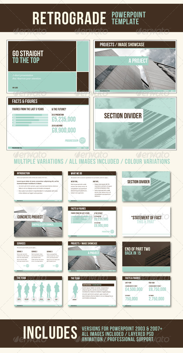 retrograde powerpoint templatedmx005 on deviantart, Presentation templates